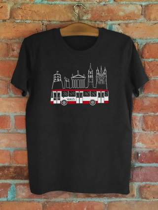 "Men's T-shirt ""Vilnius Bus"""