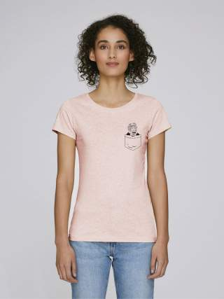 Monkey with chocolate women's t-shirt