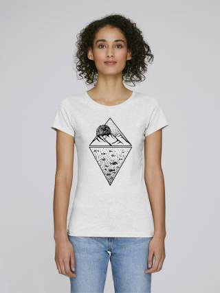 Mountain and fishes women's t-shirt