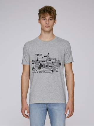 Roofs of Vilnius men's t-shirt