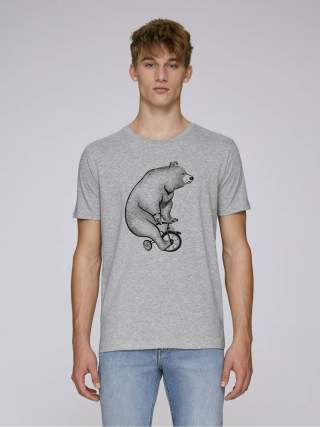 Bear on a bike men's t-shirt