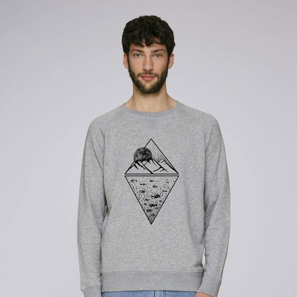 Mountain and fish sweatshirt