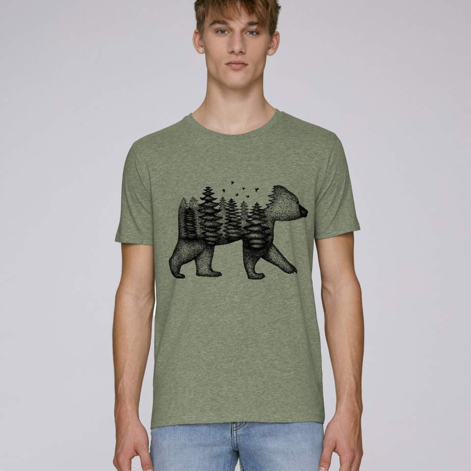Forest-bear men's t-shirt