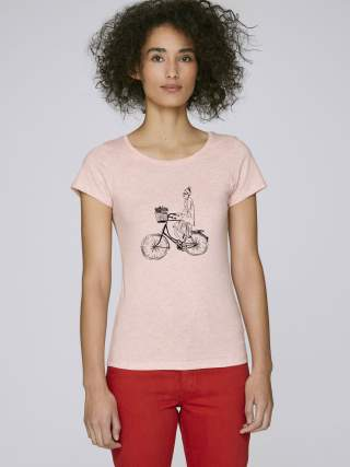 Girl on a bike women's t-shirt
