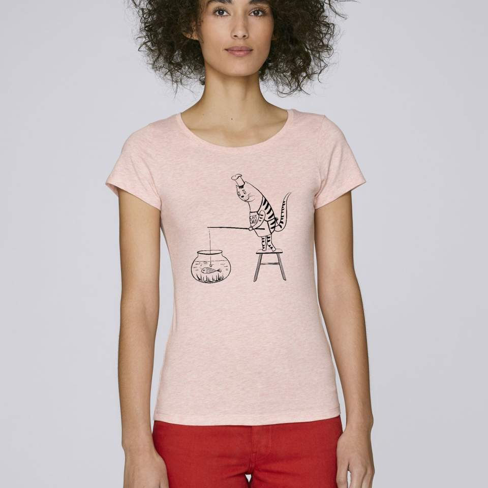 Cat chef women's t-shirt